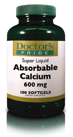 ABSORBABLE CALCIUM 600 MG SOFTGELS Plus VITAMIN D 500 IU
